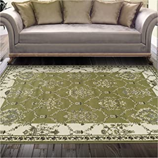 Superior Stratton Collection Area Rug, 8mm Pile Height with Jute Backing, Luxurious French Traditional Aubusson Rug Design, Fashionable and Affordable Woven Rugs - 2'7
