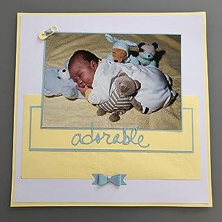 Kit scrapbooking page bébé pour album 30,5 x 30,5