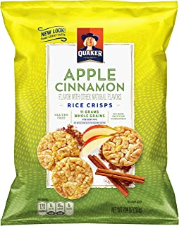 Quaker Rice Crisps, Apple Cinnamon, 3.52 Ounce, Pack of 12 (Packaging May Vary)