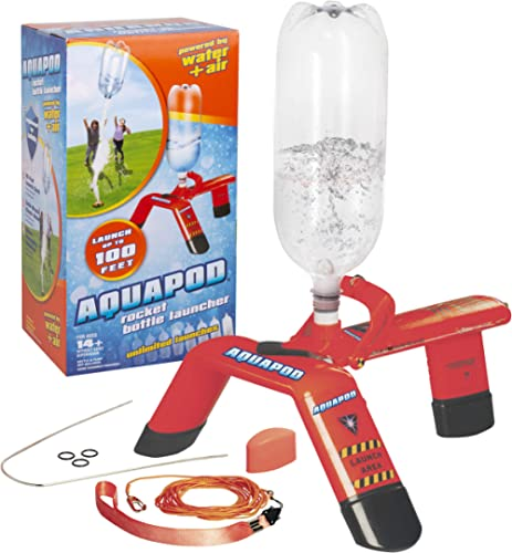 Aquapod Water Bottle Rocket Launcher - Launch 2 Liter Soda Bottles Up to 100 ft in the Air - The Cool Backyard Toy Gi...