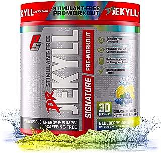 Dr. Jekyll Signature Pre-Workout Powder, Stimulant & Caffeine Free, Keto Friendly, Intense Focus, Energy & Pumps, 30 Servings (Blueberry Lemonade)