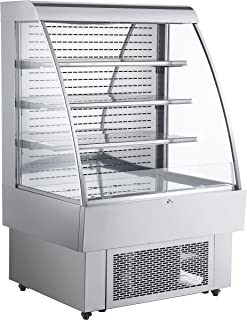 INTBUYING 40 ins Stainless Steel Commercial Self-Contained Open Refrigeration Display Case 1340W with LED Light