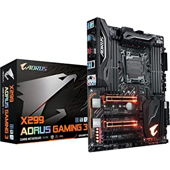 Gigabyte AORUS X299 AORUS Gaming 3 (Rev. 1.0) LGA 2066 Intel X299 SATA 6GB/s USB 3.1 ATX Intel Motherboard