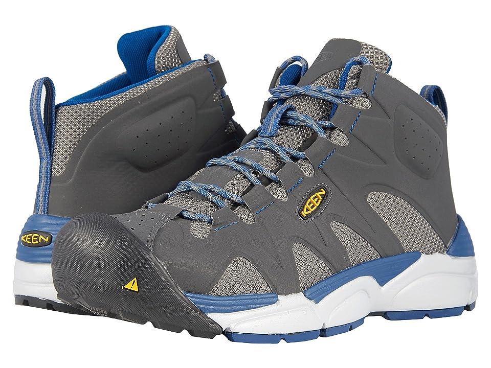 Keen Utility San Antonio Mid Aluminum Toe (Gargoyle/Blue Opal) Men