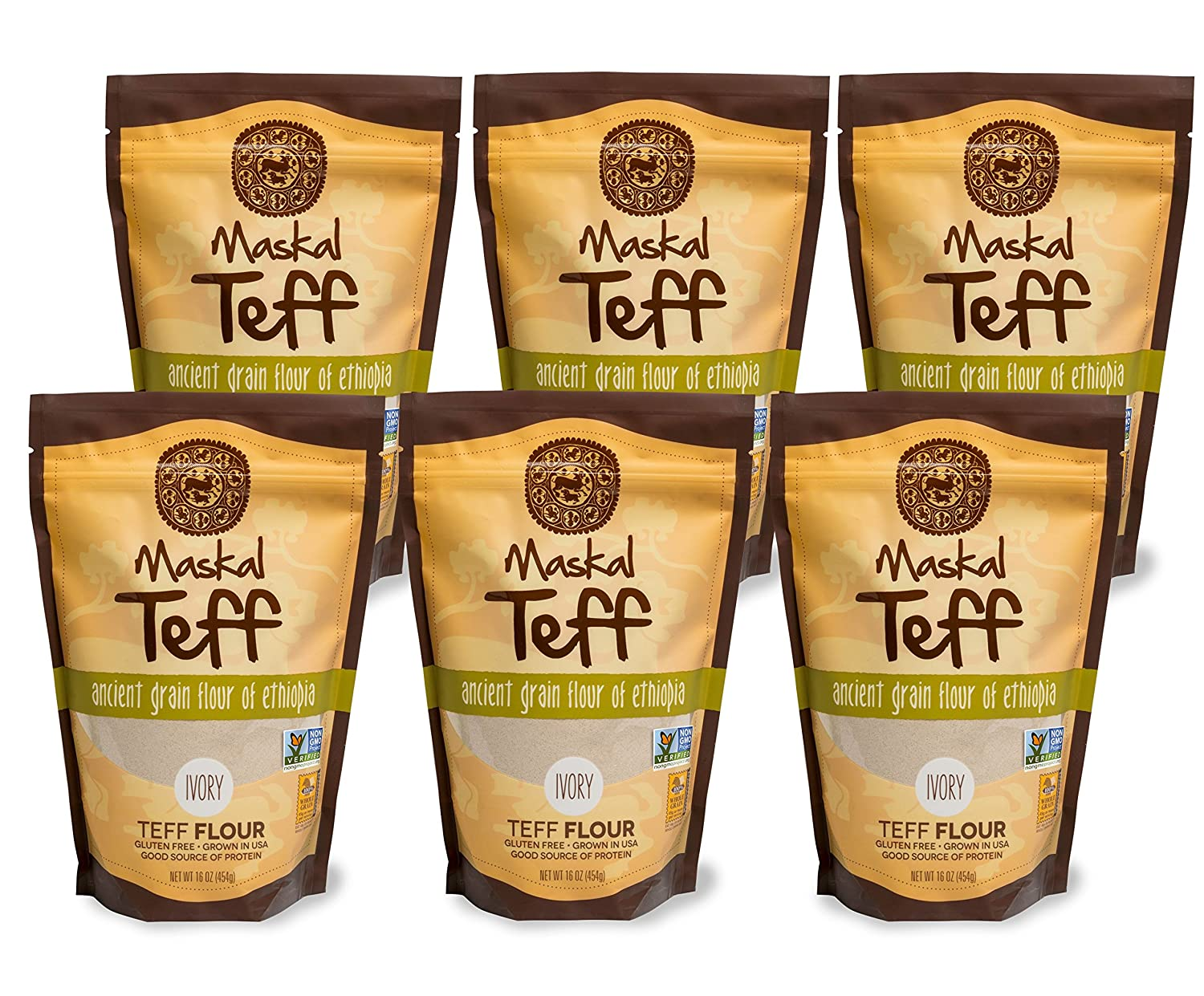 Maskal Teff All items free shipping Ivory Flour Luxury 6 Ounce pack 16