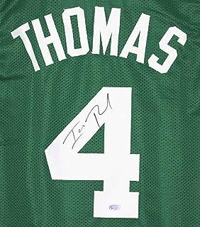 Isaiah Thomas Boston Celtics Signed Autographed Green #4 Custom Jersey