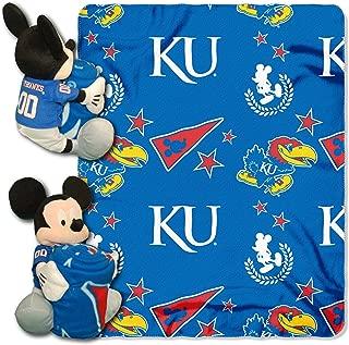 The Northwest Company Officially Licensed NCAA Kansas Jayhawks Co Disney's Mickey Mouse Hugger and Fleece Throw Set, 40