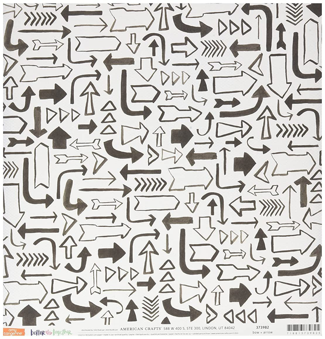 American Crafts 373982 Amy Tan Better Together Double Sided Cardstock (25 Sheets Per Pack), 12