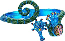 Blue Seahorse Bangle Bracelet