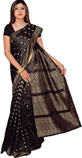 Trendofindia Indian Bollywood Sari Negro CA108