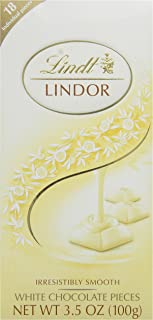 Lindt LINDOR Bar, Irresistibly Smooth White Chocolate, Gluten-Free, 3.5 Ounce (Pack of 12)