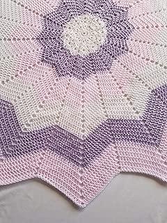 Multicolor Starburst Baby Afghan, Security Blanket, Crochet blanket, Baby Shower Gift, Baby gift, Photo Prop, Nursery blanket, baby, baby girl, newborn, toddler - Made to Order