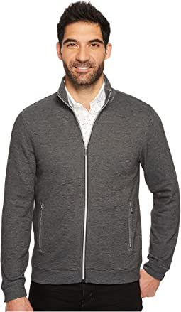 Perry Ellis - Solid Heathered Full Zip Knit Jacket