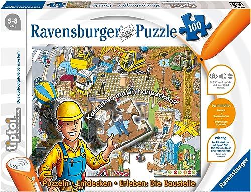 Ravensburger 00517 - tiptoi Puzzlen, Entdecken, Erleben - Baustelle - 100 Teile Puzzle (ohne Stift)