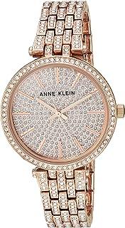 ساعت مچی دستبند طلا و جواهر گل رز با تمرکز گل رز خانم های آن Klein AK / 3320PVRG Swarovski