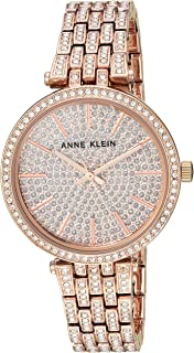 Anne Klein Women's AK/3320PVRG Swarovski Crystal Accented Rose Gold-Tone Bracelet Watch