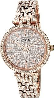 Anne Klein Women's AK/3320PVRG Swarovski Crystal Accented Rose Gold-Tone Bracelet Watch