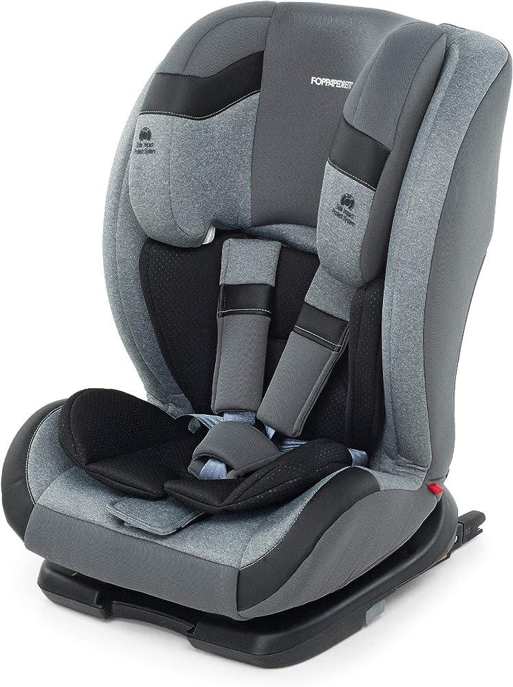 Foppapedretti re-klino fix seggiolino auto isofix gruppo 1/2/3 (9-36kg), per bambini da 9 mesi a 12 anni 9700382707