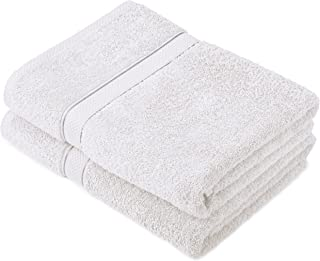 Pinzon by Amazon - Egyptian Cotton Towel Set, 2 Bath Towels - White, 600gsm