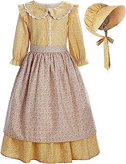 Pioneer Girl Costume Laura Ingalls Wilder Dress Yellow