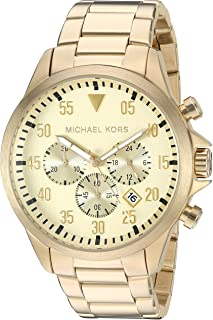 Michael Kors Men' sGage Gold-Tone Watch MK8491