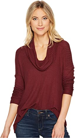 Lucky Brand - Cowl Neck Thermal Top