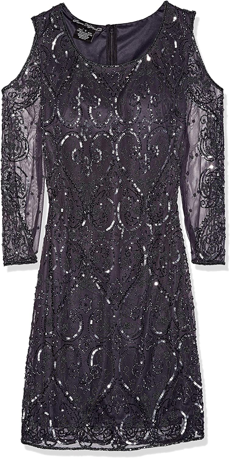 Pisarro Nights Womens Short Dress with Cold Shoulder Special Occasion Dress