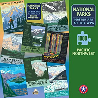 Pacific Northwest Group National Park Poster Art of The WPA 1000 Jigsaw Puzzle Games for Kids Adults Collector Item (Printed in USA)
