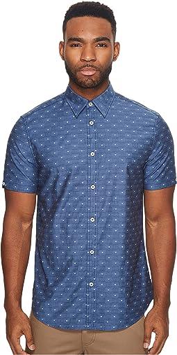 Ben Sherman - Short Sleeve Stretch Clip Dobby Woven Shirt
