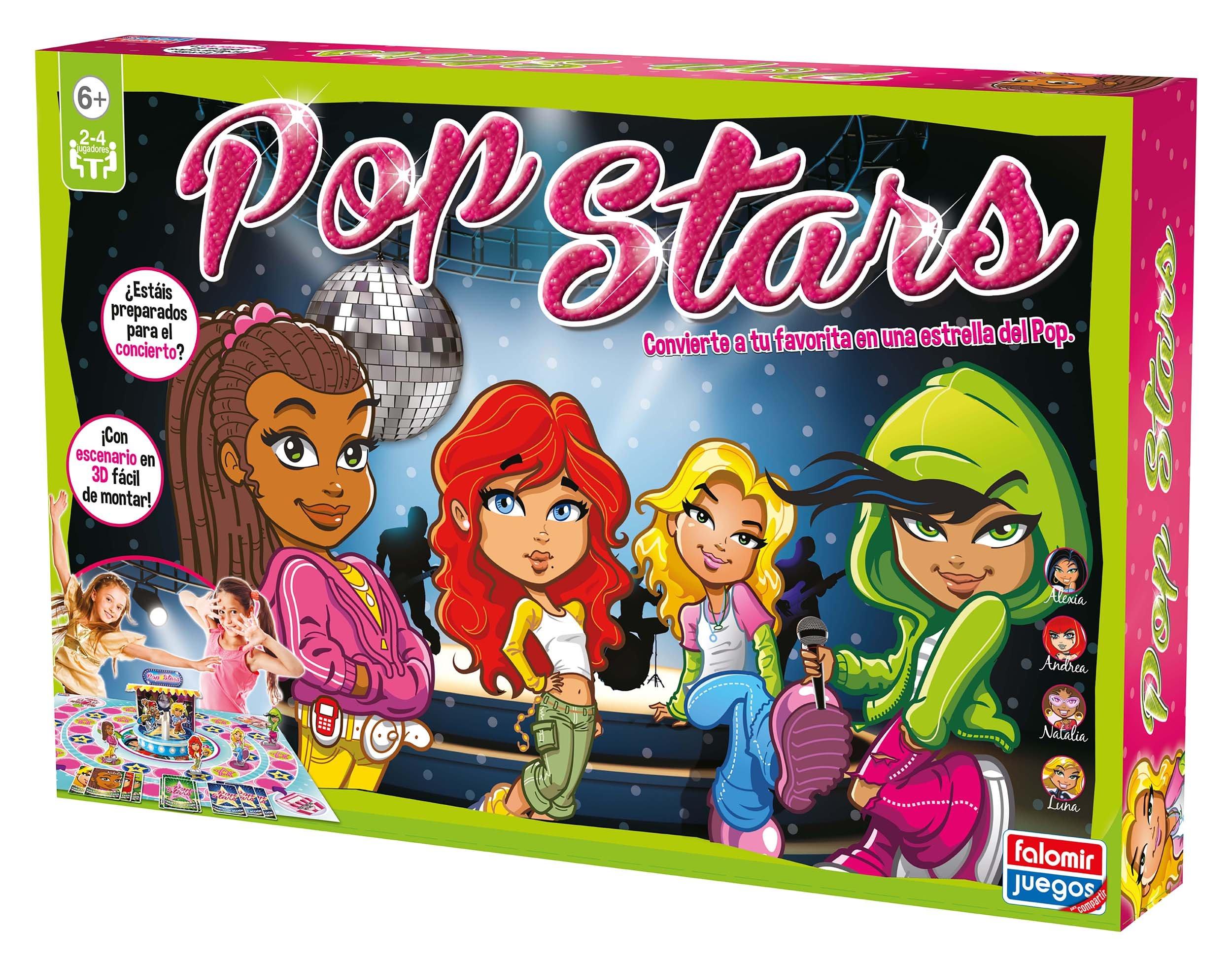 Falomir - Pop Stars, Juego de Mesa (25007): Amazon.es: Juguetes y juegos