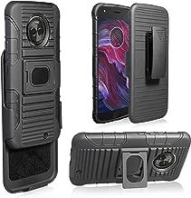 Motorola Moto X4 Case,Customerfirst Hybrid Kickstand Heavy Duty Armor Holster Defender Protective Case Cover with Belt Clip for Motorola Moto X4 Case (Black)