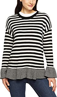French Connection Women's Peplum Stripe Knit