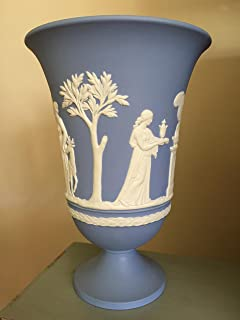 black jasperware vase