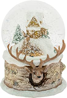 Roman Snow Globe Deer