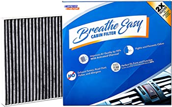 Spearhead Premium Breathe Easy Cabin Filter, Up to 25% Longer Life w/Activated Carbon (BE-729)