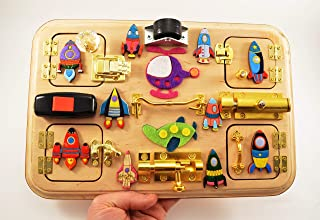 Busy board Travel busy board Latch board Sensory board Rocket toy Baby gifts Waldorf toys Montessori toys Toddler toy Adult toys Toy for boy
