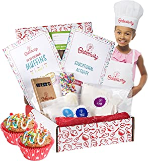 Baketivity Kids Baking DIY Activity Kit - Bake Delicious Funfetti Muffins with Pre-Measured Ingredients – Best Gift Idea f...