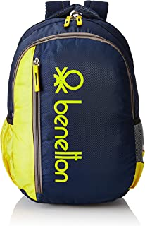 United Colors of Benetton 34 Ltrs Yellow School Backpack (0IP6SCHBPNY8I)