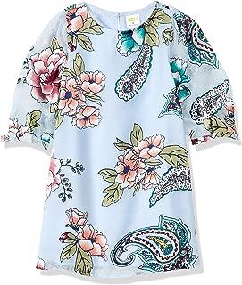 Crazy 8 Girls' Big Long Sleeve Casual Woven Dress,