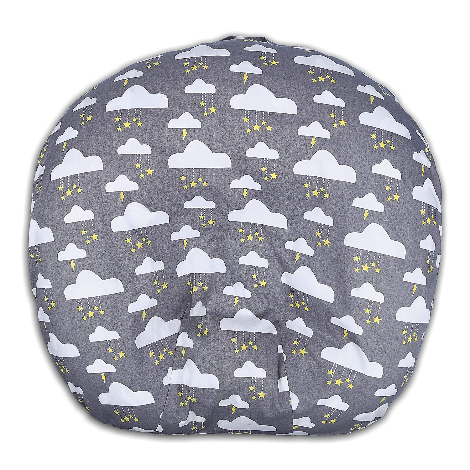 Newborn Lounger Cover 100% Soft Cotton Removable Cover Twinkle Stars Grey