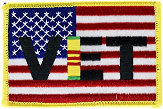Vietnam Veteran Ribbon on US Flag 3.5