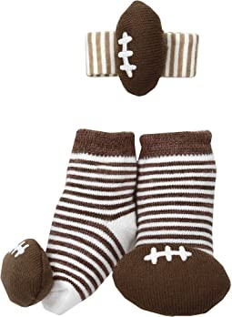 Mud Pie - Football Wrist Rattle Sock Set (Infant)