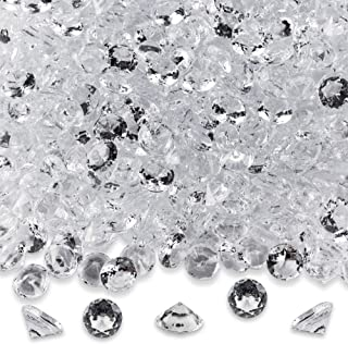 Best Diamond Table Confetti Party Toy Decorations for Weddings, Bridal Shower, Birthdays, Graduations, Home, and more. 800 COUNT, 4 Carat/8mm Jewels by Super Z Outlet Review