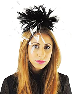 Giant Eagle Owl Feather Fascinator Hat for Ascot, Kentucky Derby & Weddings - Headband