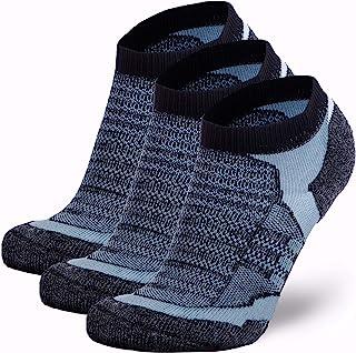 Sponsored Ad - Pure Athlete Merino Wool Socks Men, Women, Youth – Low Cut Cushioned Athletic Running Sock, Moisture Wicking