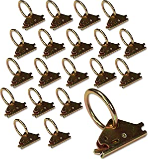 DC Cargo Mall 20 Steel E-Track O Ring Tie-Down Anchors for E-Track TieDown System, Tie Down Cargo Loads to ETrack Rails (Not Included) in Enclosed/Flatbed Trailer, Truck, Van, Pickup