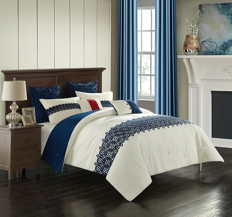 在庫一掃売り切りセール Casa Kamila 年末年始大決算 7Pc Comforter Multi Full Set Queen