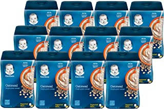 Gerber 1st Foods Baby Cereal Oatmeal, 16 oz (Pack of 12)