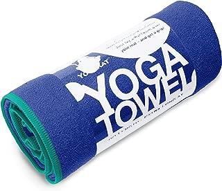 YogaRat Yoga Towel - 100% Microfiber -Multiple Sizes -Non-Slip - Absorbent - Thin - Lightweight Yoga Mat Towels - Yoga Hand Towel Option Available