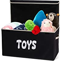 Woffit Toy Storage Organizer Chest for Kids with Flip-Top Lid